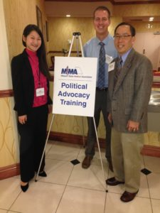 Pictured from left to right Dr. Lydia Luangruangrong, Dr. Daniel Lackey, and Dr. Douglas Char