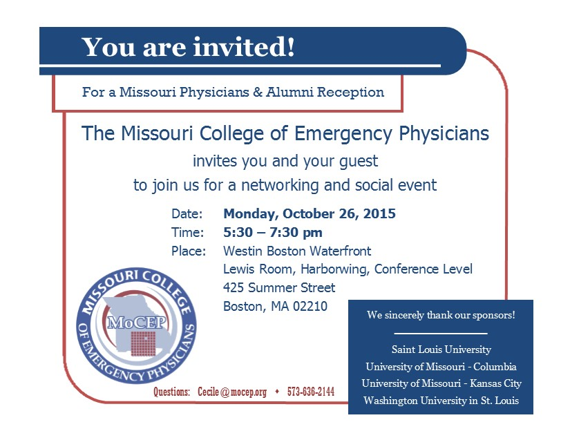 Missouri Reception invitation 2015