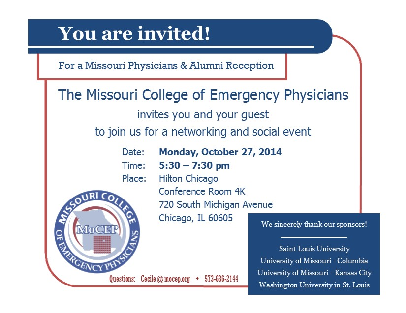 Missouri Reception invitation - SA14